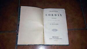 Ponsard Charlotte Corday Tragédie I Ed. Société Typographique Belge 1850