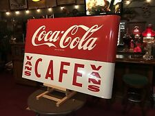 "1950's Coca Cola COKE Porcelain 43"" Vintage Cafe Sign ""Watch Video"""