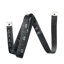 Seamstress Tailor Ruler Soft Tape Measure Sewing Tape for Sewing Black 60 Inch