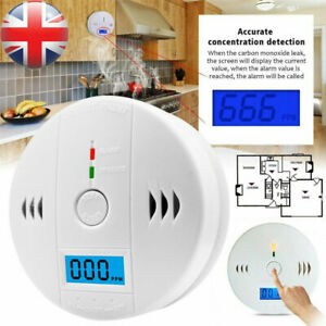 Carbon Monoxide (CO) Detector Alarm Alert - Battery Operated Carbon Combination
