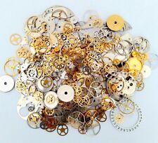 35g Steampunk Watch Movement Parts Gears Cogs Wheels Assorted Lot Industrial Art