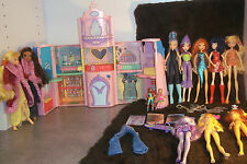 "✿WINX CLUB✿  lot 9 original Mattel 9"" dolls, Alfea College & accessories + More"