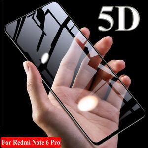 5D Curved Temper Glass Film Screen Protector for Xiaomi Redmi Note 6 Pro/Poco F1