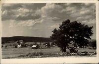 Hermsdorf Erzgebirge DDR s/w Postkarte 1954 Panoramablick Gesamtansicht Baum