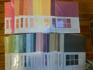 NIP Papertrey Ink Patterned Paper-6 each of 6 different patterns-one color, NLA