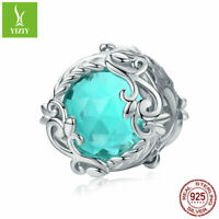Secret Garden 925 Sterling Silver Charms Glass Beads Women Fashion Pendant Gifts