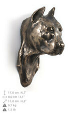 American Staffordshire Terrier Cropped,statuette, Art Dog Limited Edition, Usa