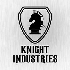 KNIGHT INDUSTRIES Rider Kitt Michael Schwarz Auto Vinyl Decal Sticker Aufkleber