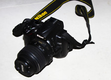 Nikon D5000 digital and video DSLR camera, with Nikkor 18-55 lens and Sigma came