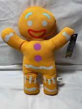 New Gingy Gingerbread Man Shrek 3rd Dreamworks Toy Factory Plush Holiday F2