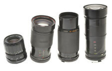 Lot of 4 zoom lenses for 35mm reflex cameras with problems sold as is