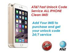 FAST FACTORY UNLOCK CODE FOR AT&T IPHONE 3 4S 5 5S 6 6s+ SE 7 CLEAN IMEI ONLY