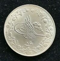 1909 1 QIRSH EGYPT COIN 1327/2 KM# 306 High Grade and  Rare