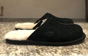 UGG Australia Men's Scuff Slippers Black Suede Size 12 US $80
