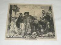 1879 magazine engraving ~ PUBLIC LETTER WRITER Madrid, Spain