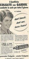 W1936 Dentifricio COLGATE con Gardol - Pubblicità del 1958 - Vintage advertising