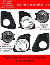 REPLACEMENT FOG LIGHTS LAMPS FOR 2011-2013 TOYOTA COROLLA CHROME CE, L, LE, S