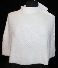 Dialogue NWT Womens Cape Poncho Sz L Wool Blend Winter Off White Shawl Bolero