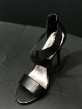 NEW Steve Madden Dacia  Women Sandals Heels Slastic Criscross Black Size 10M New