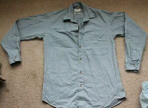Mens Viyella Pale Blue Shirt Size S Good Condition 100% Cotton Excellent Quality