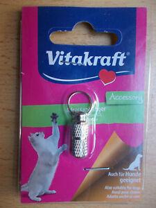 Adressanhänger für Katzen, Adresskapsel, Metall, mit Adresszettel,