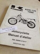 Kawasaki KDX125 KDX 125 90 à 97 B1 à B8 manual workshop workshop service manual