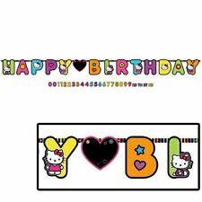 HELLO KITTY Neon Tween JUMBO LETTER BANNER KIT ~ Sassy Birthday Party Supplies