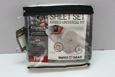 Swiss Gear Twin Sheet Set Airbed Universal Fit Fitted and Flat Sheet New E8385