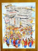"Wall Street Journal vintage print, The Pits by Pat Huss 22"" x 30"" fine art print"