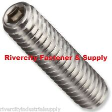 (25) M6-1.0x35 Socket Set Screw Cup Point Stainless Grub Screws 6mm x 35mm