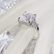 Authentic Cubic Zirconia Sterling Silver .925 Statement Cocktail Ring Sz. 10