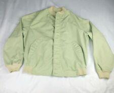 Vintage 80's Original La Paz by Catalina Mens Sz 46 Jacket Green Zip Up *w/SPOT*