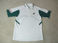 Reebok Miami Dolphins Polo Shirt Adult Large White Green Lightweight Football A*