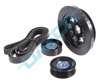 POWERBOND UNDERDRIVE BALANCER BELT PULLEY KIT FOR FORD BA BF FG FALCON 6 4.0 20%