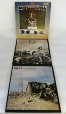 """x3 RUSH Rare Early Vinyl 12"""" Albums Rush/At The Worlds Stage/A Farewell to Kings"""