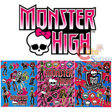 Monster High Stickers Set 3 Sheets Wall Window Pre Cut Vinyl Stickers