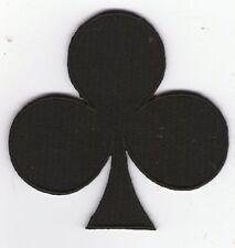 écusson ECUSSON PATCHE PATCH THERMOCOLLANT TREFLE NOIRE DIM. 7 X 7 CM