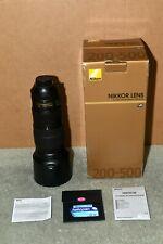 Nikon 200-500mm f/5.6AF-S NIKKOR E ED VR Lens for Nikon with 95mm Filter
