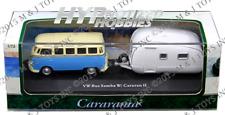 CARARAMA 1:72 VOLKSWAGEN BUS SAMBA WITH CARAVAN II W/ ACRYLIC CASE 12812