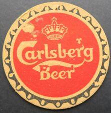 Ancien sous-bock bière CARLSBERG beer coaster Bierdeckel 12