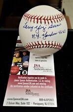 Larry Yogi Berra Inscription  Autograph Signed MLB Rawlings Baseball JSA Cert