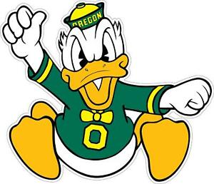 Oregon Ducks Logo Decal ~ Car / Truck Vinyl Sticker - Cornholes, Wall Graphics