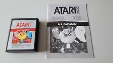 Jeu Atari 2600 MS PAC MAN  jeu + notice (N°470)