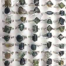 Natural Agate Rings 50pcs/lot Wholesale Women's Rings Mixed Size