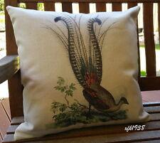 Cotton Linen Cushion Cover Pillow Case Australian Bird Superb Lyrebird D2