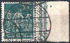 Schnitter MiNr. 170 vom rechten Seitenrand gestempelt in DRESDEN-NEUSTADT