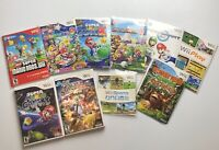 Nintendo Wii Game Lot of 10 Super Mario Smash Party Sports Donkey Kong Bundle