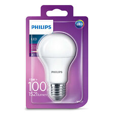 1x Philips LED Frosted E27 100w Warm White Edison Screw Light Bulb Lamp 1521lm