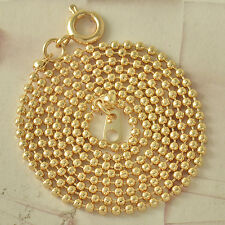 1Classic 9K Real Gold Filled Mens/Womens Beaded Chain Necklace 52cm*2mm F4580