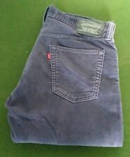 Mens Levi Strauss 514 Lavender Grey Cords W34 L26 Extra Short